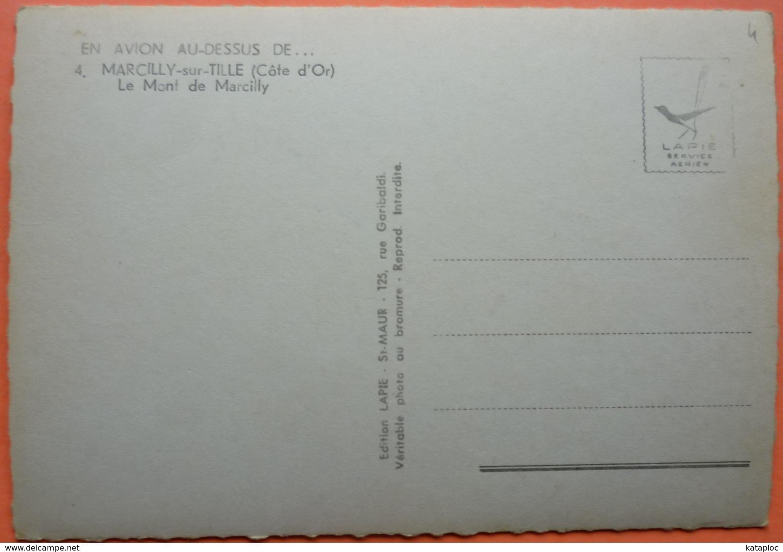 CARTE EN AVION AU DESSUS DE MARCILLY Sur TILLE - 21 - LE MONT DE MARCILLY - SCAN RECTO/VERSO -11 - Autres Communes