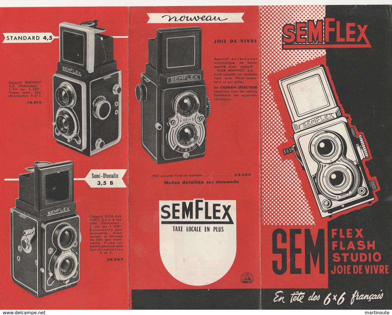 - Dépliant Publicitaire Pour Appareil Photo SEMFLEX - Appareils Photo
