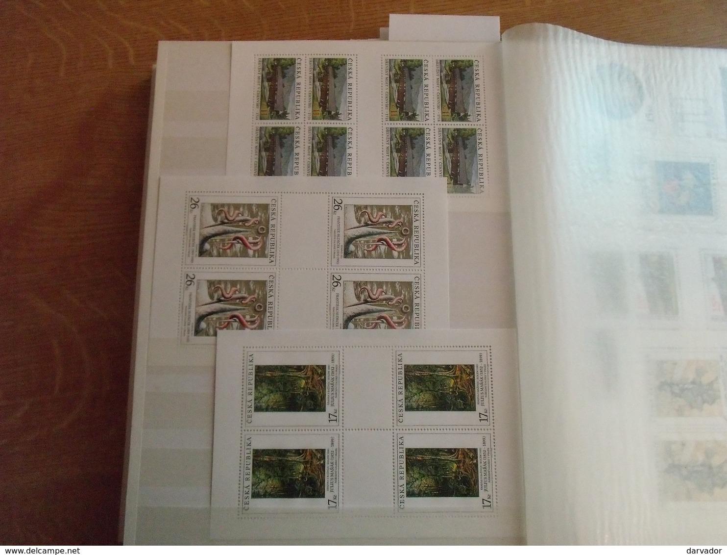 Album I / Collection De Timbres De Tchécoslovaquie / Tchéquie Tous Neuf ** MNH Dont Très Nombreux Blocs,carnet SUPERBE - Tchécoslovaquie