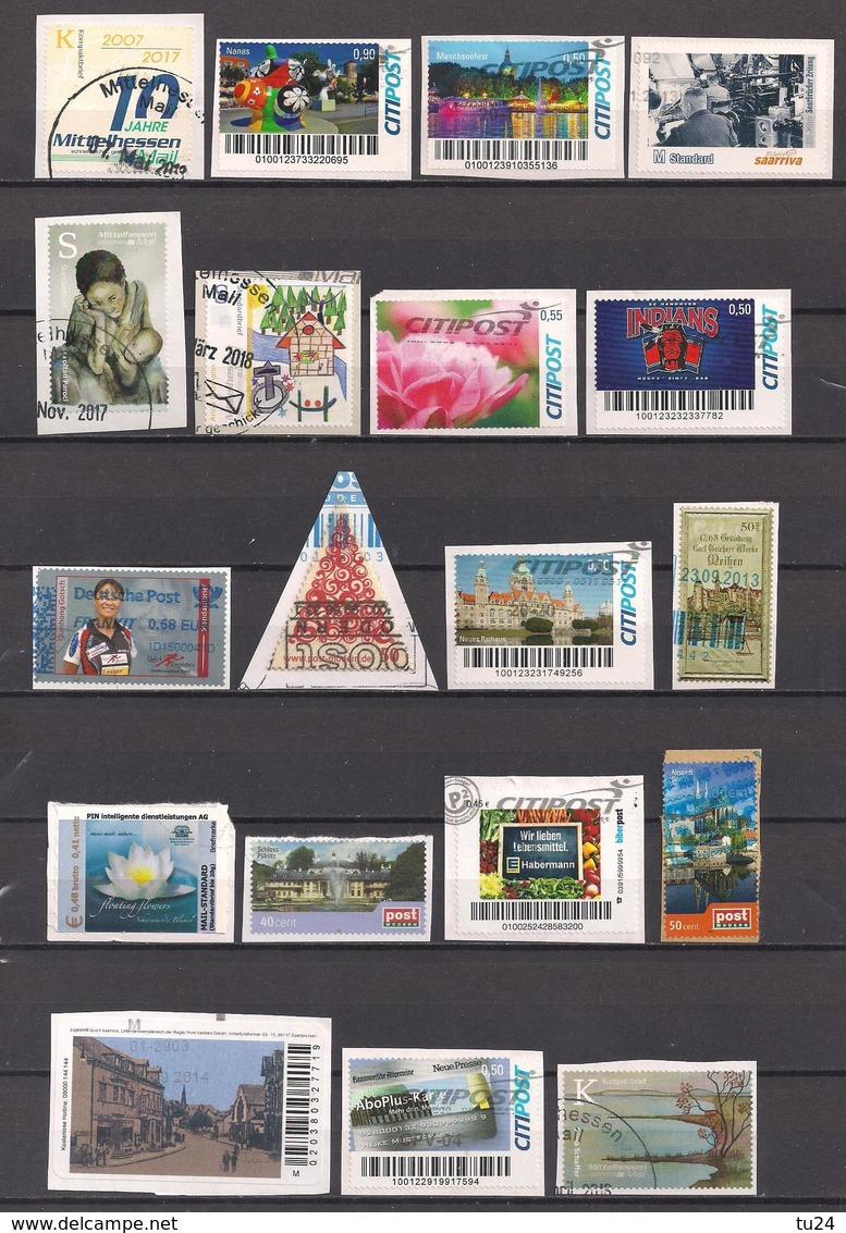 Privatpost  19 Verschiedene Marken  Gest. / Used  (8ac10) - Private & Local Mails