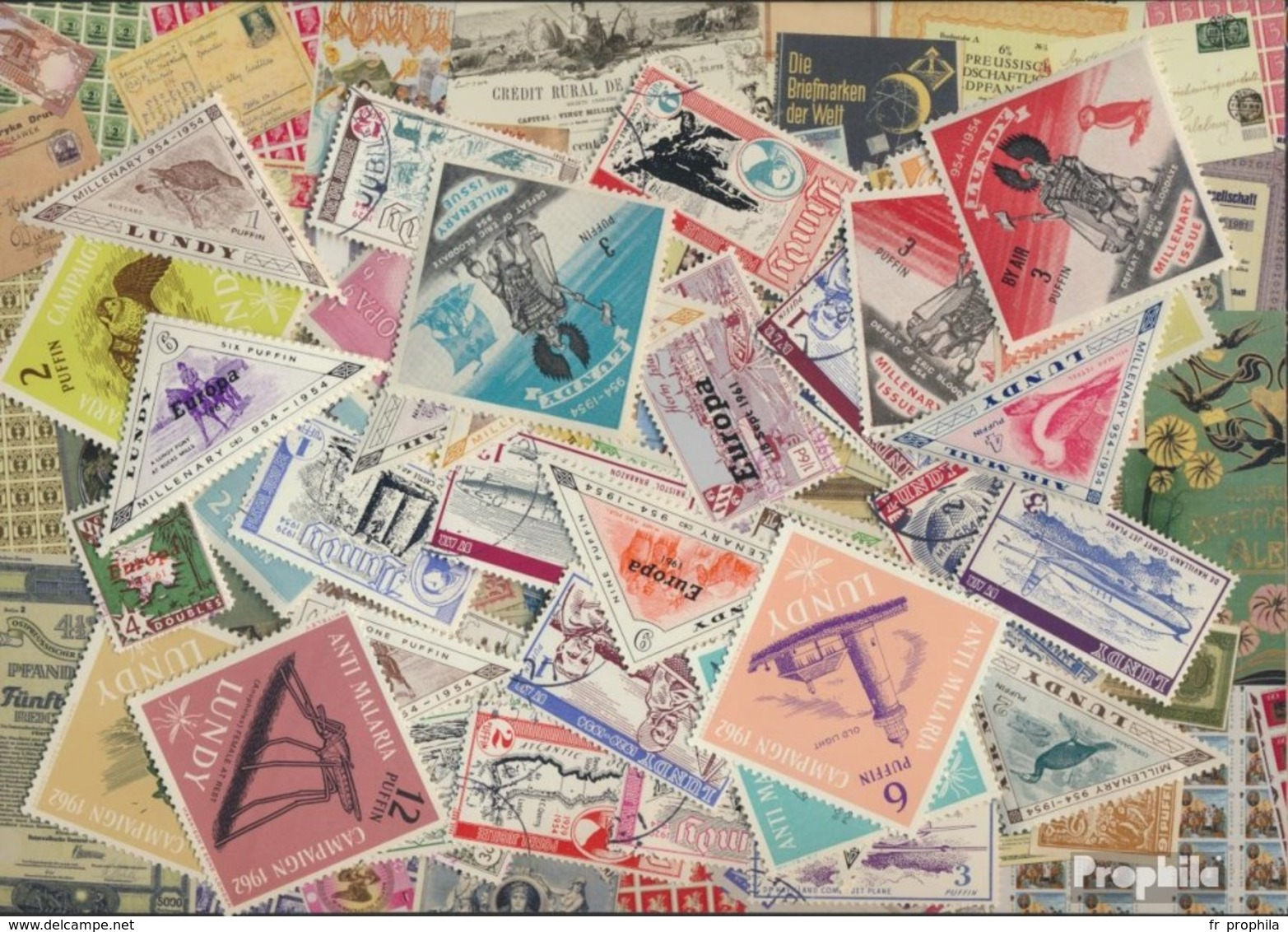 Gb-Lundy Timbres-50 Différents Timbres - Other