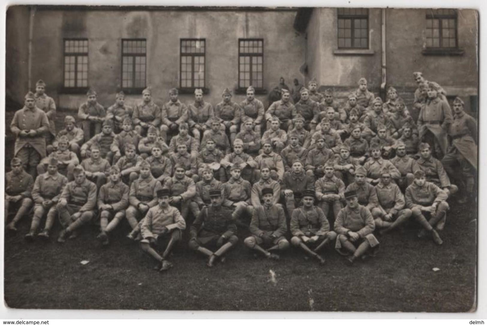 Carte Photo Militaria Soldats 146 ème Régiment D'infanterie1 ère Cie Saint AVOLD - Saint-Avold
