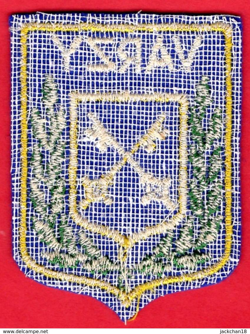 -- ECUSSON TISSU FEUTRINE - BLASON DE VARZY (Nièvre) -- - Ecussons Tissu
