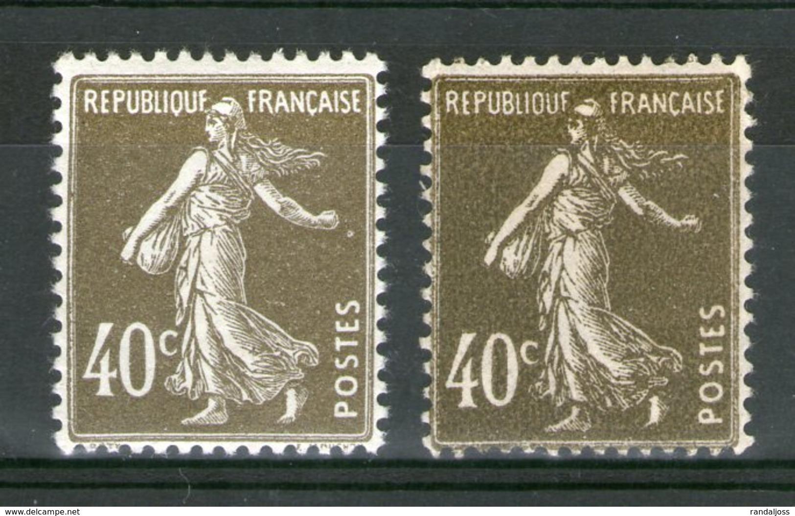 N° 193*_Types I Et II_2 Nuances_2 Papiers - 1906-38 Semeuse Camée
