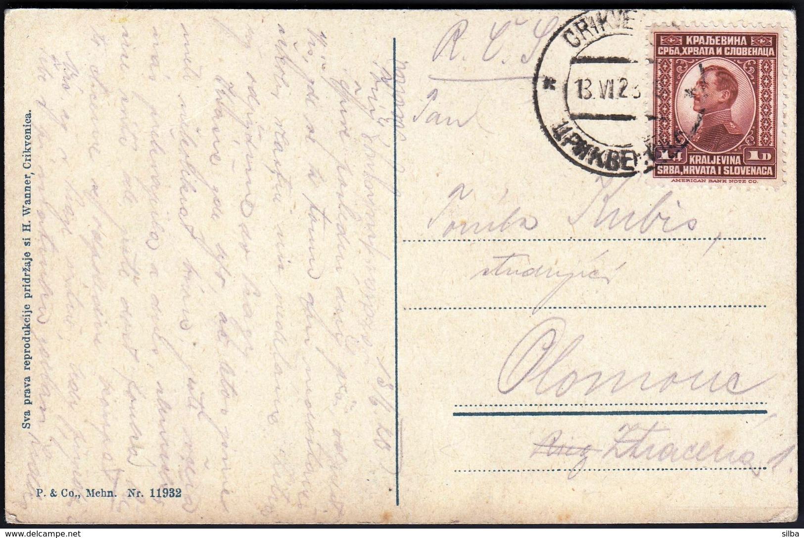 Croatia Crikvenica 1923  / Luka, Hafen, Port, Ships / Kingdom SHS / Mehn 11932 - Croatie