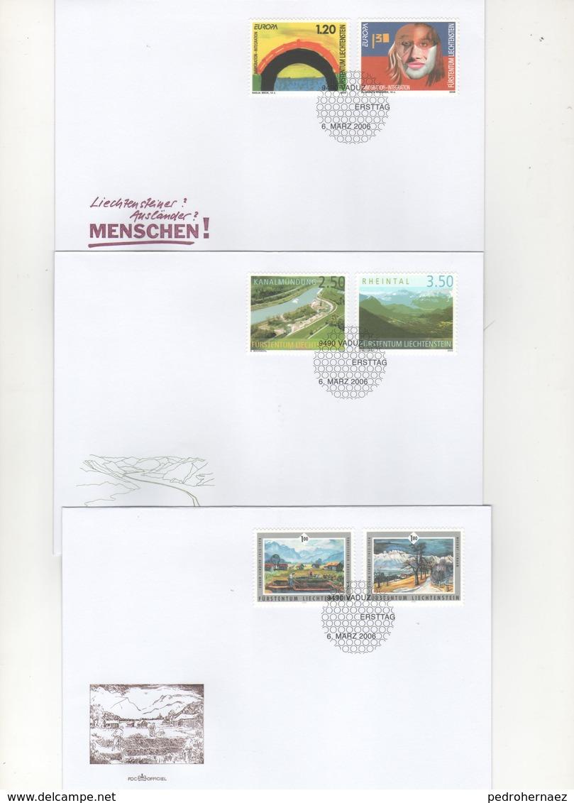 Liechtenstein Sobres Primer Dia  -Sello Y Matasello- Año 2006   ( 3 Sobre Primer Dia)  Según Foto - Liechtenstein