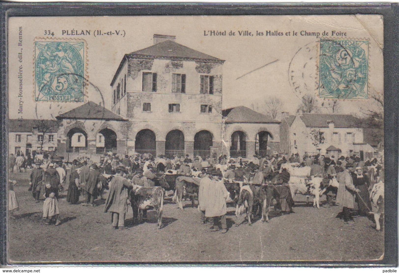 Carte Postale 35. Plélan  Champ De Foire Très Beau Plan - Other Municipalities