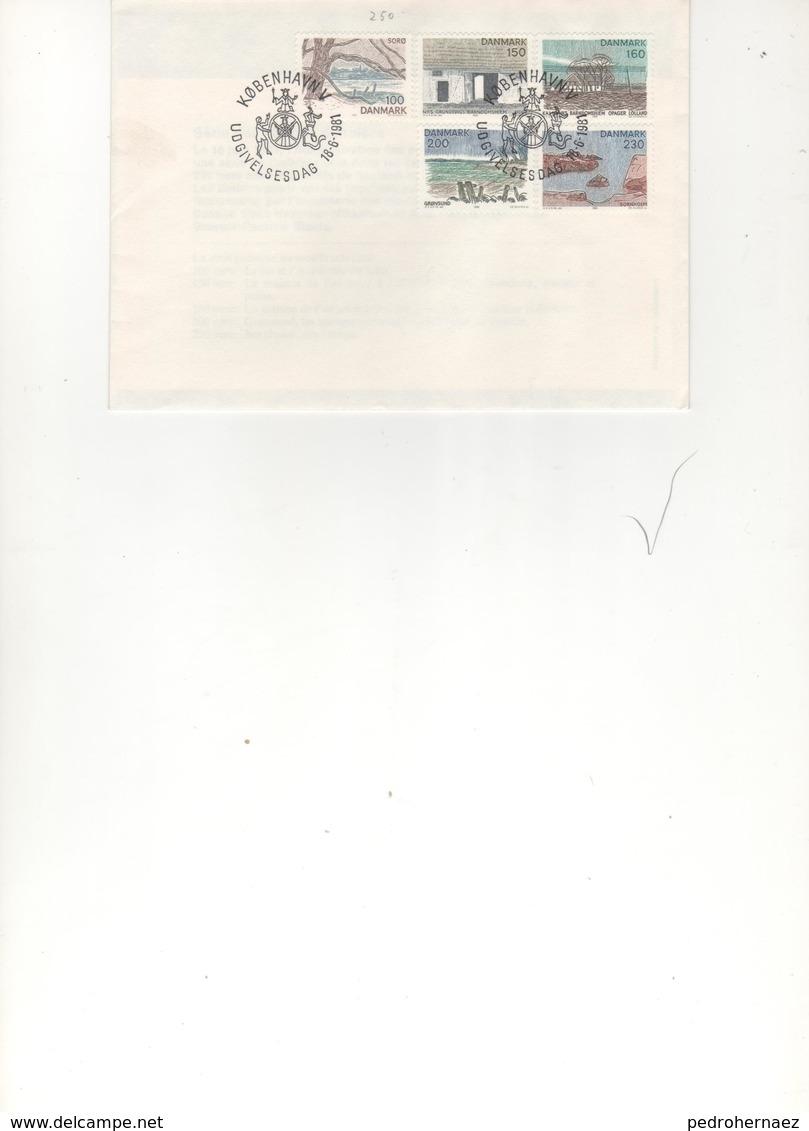 Dinamarca- Sobres Primer Dia  -Sello Y Matasello-  Año 81   ( 1 Sobres Primer Dia)  Según Foto - Lotes & Colecciones