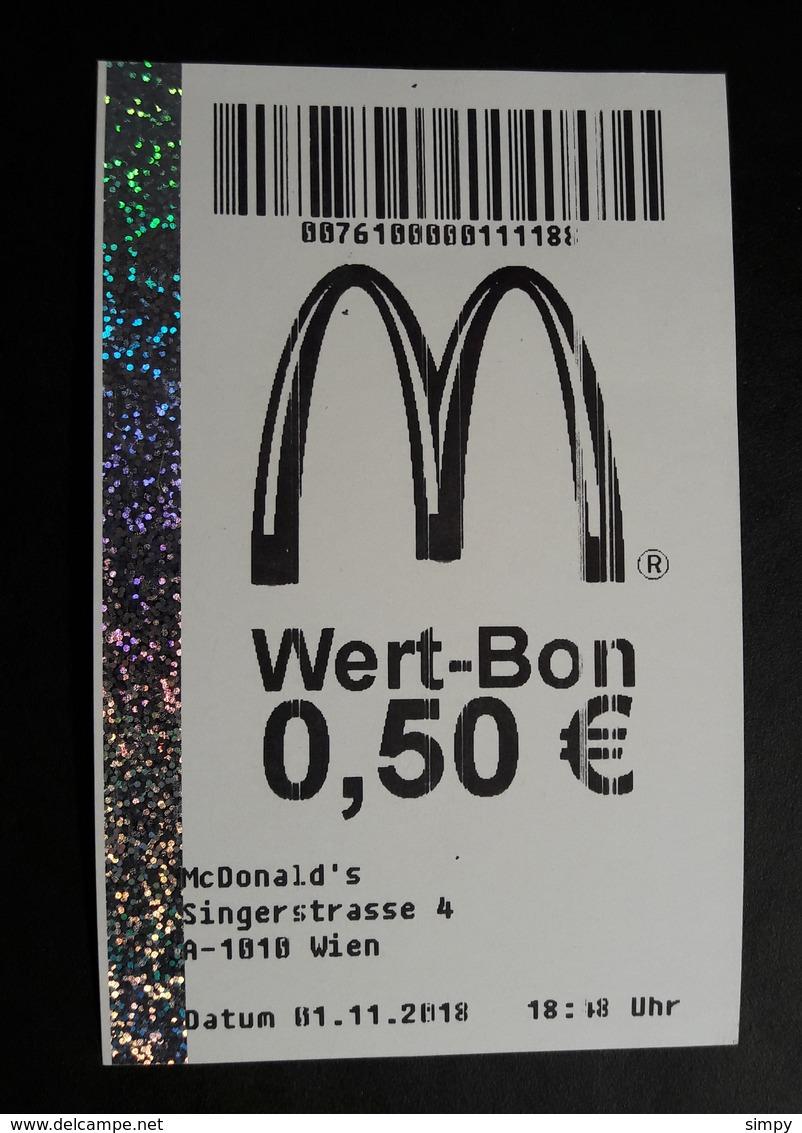 Mc Donalds AUSTRIA Wien Coupon  Wert Bon - Reclameservetten
