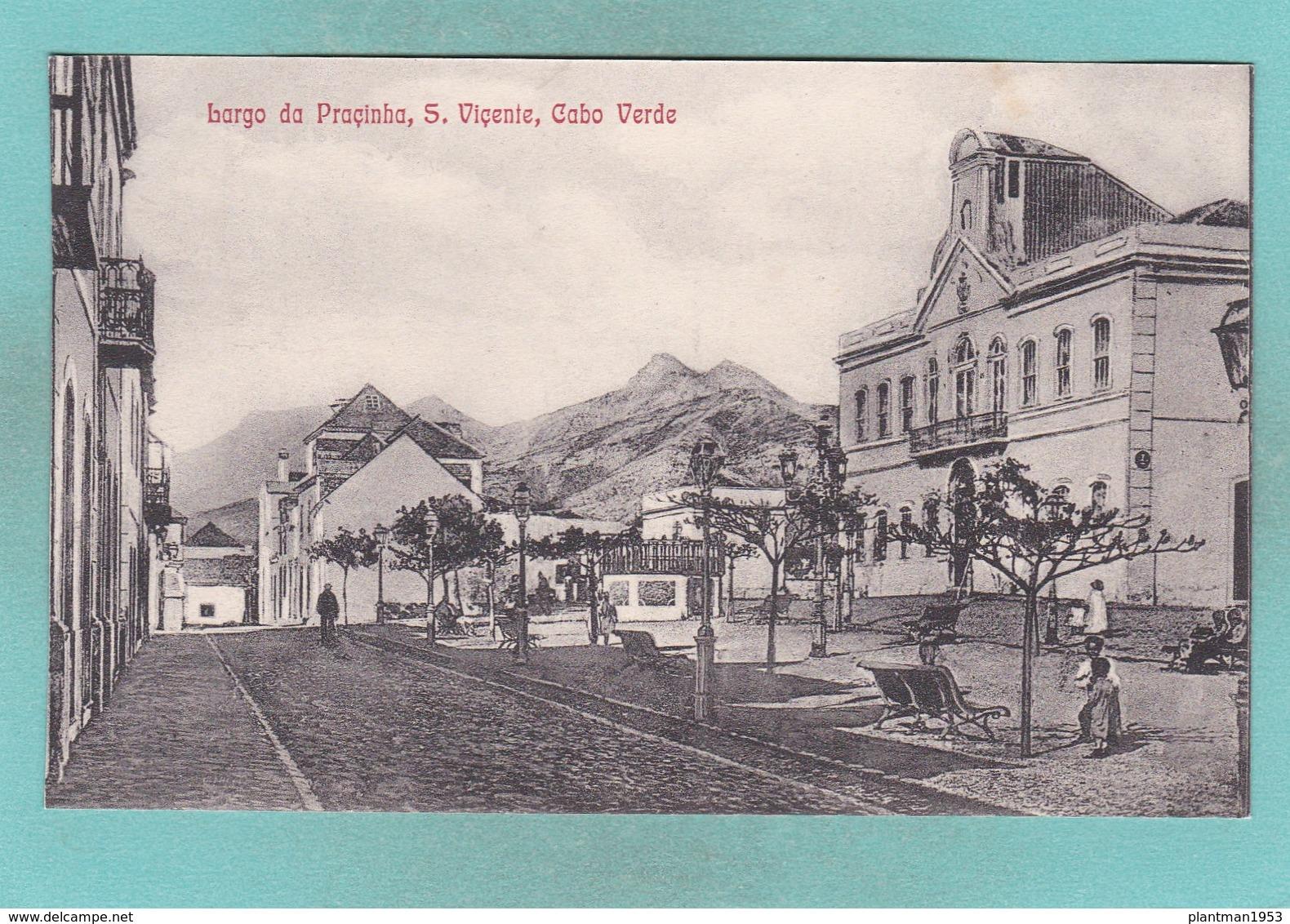 Old Post Card Of Largo Da Pracinha S.Vicente,Cape Verde,Cabo Verde,,R71. - Cape Verde