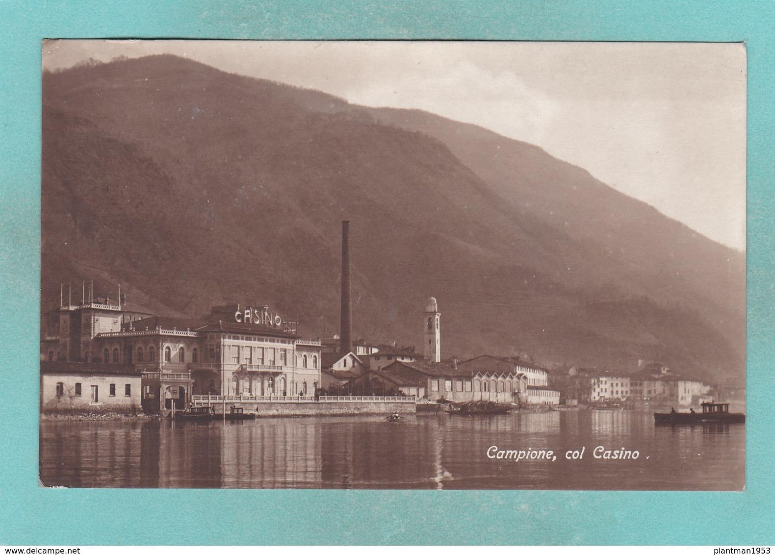 Old Post Card Of Casino,Campione D'Italia, Lombardy, Italy ,R71. - Como