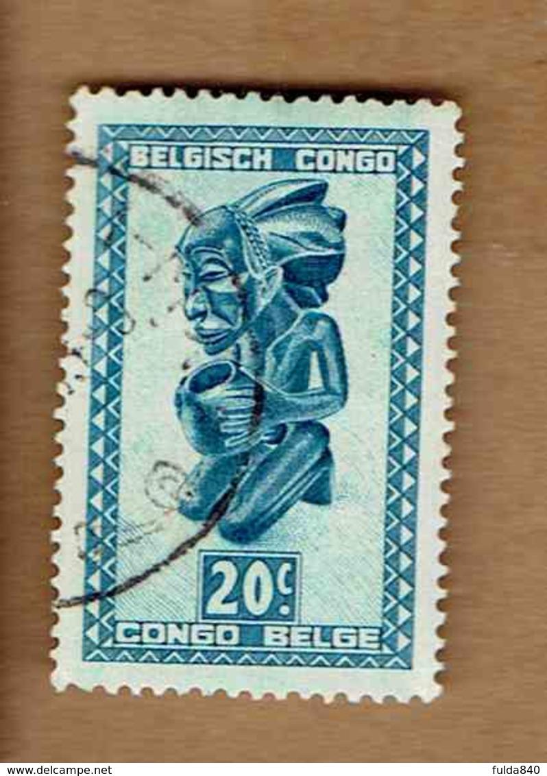 Congo Belge.(COB-OBP) 1948 - N°279 *ARTISANAT ET MASQUES*      20c - Oblitéré - Congo Belge