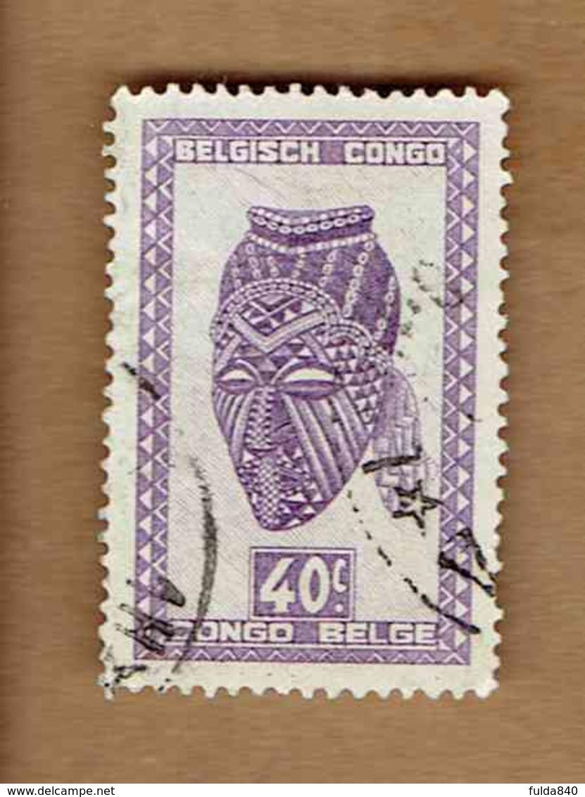 Congo Belge.(COB-OBP) 1948 - N°281 *ARTISANAT ET MASQUES*      40c - Oblitéré - Congo Belge