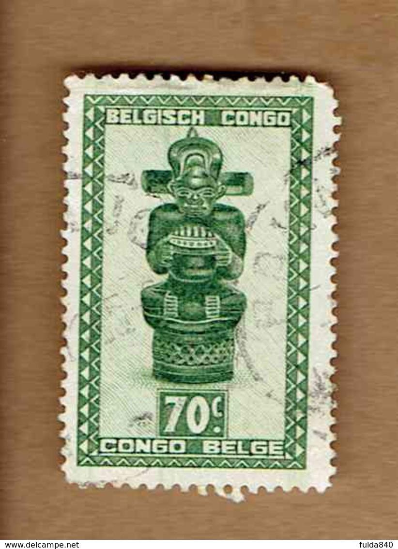 Congo Belge.(COB-OBP) 1948 - N°283 *ARTISANAT ET MASQUES*      70c - Oblitéré - Congo Belge