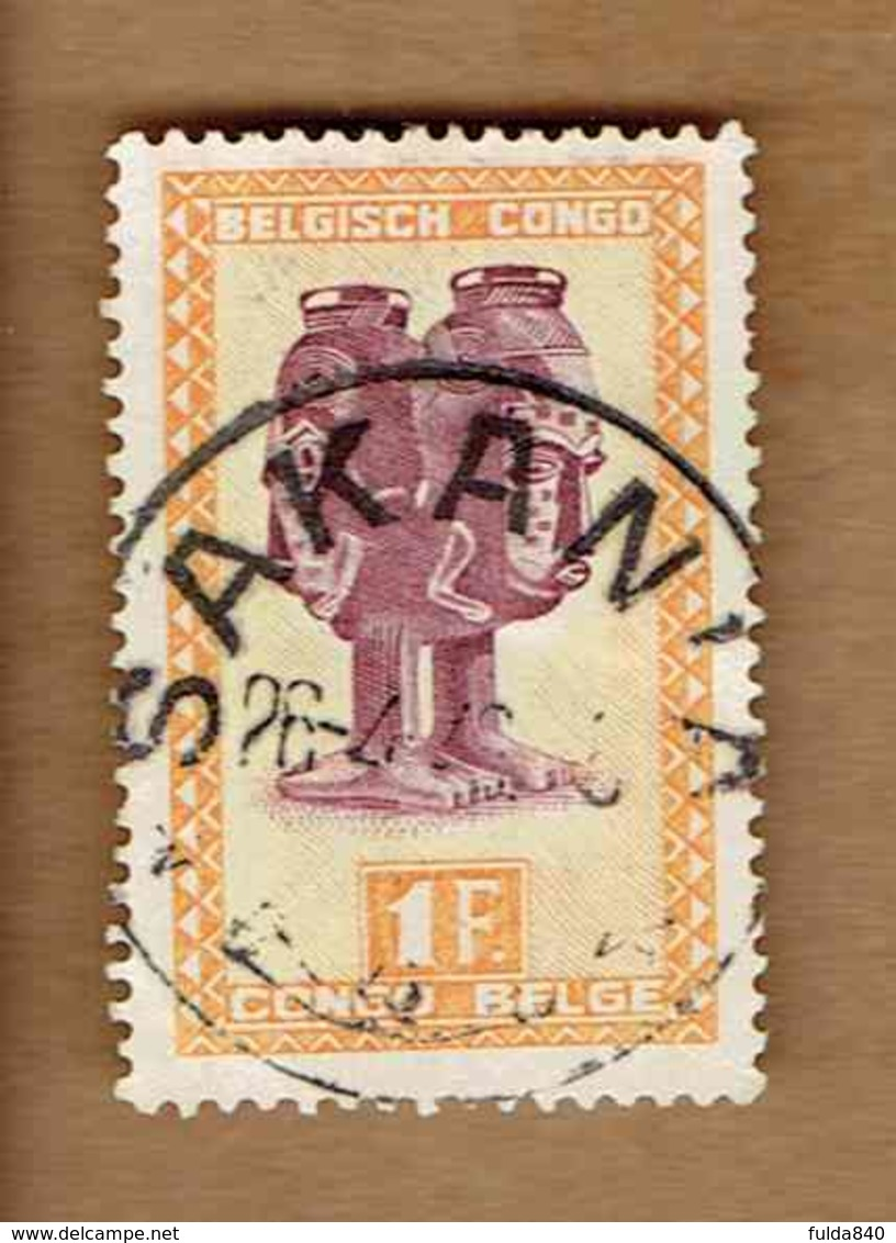 Congo Belge.(COB-OBP) 1948 - N°285 *ARTISANAT ET MASQUES*      1F - Oblitéré SAKAN - Congo Belge