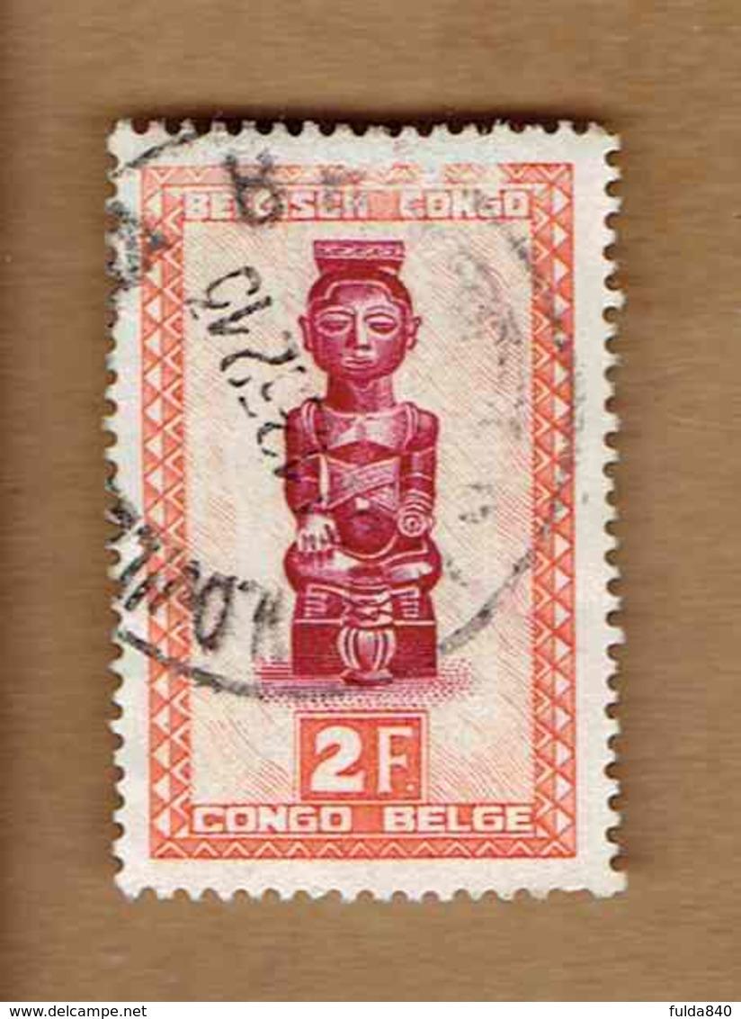 Congo Belge.(COB-OBP) 1948 - N°287 *ARTISANAT ET MASQUES*      2F - Oblitéré - Congo Belge