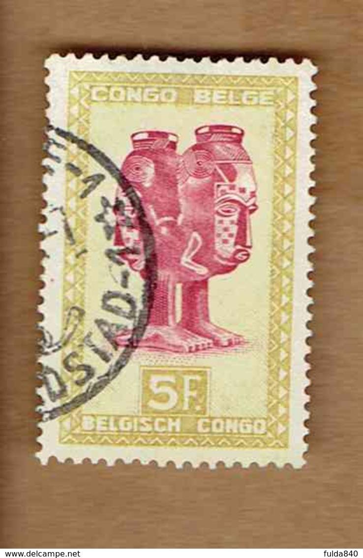 Congo Belge.(COB-OBP) 1948 - N°290 *ARTISANAT ET MASQUES*      5,00F - Oblitéré LEOPOLDVILLE - 1947-60: Oblitérés