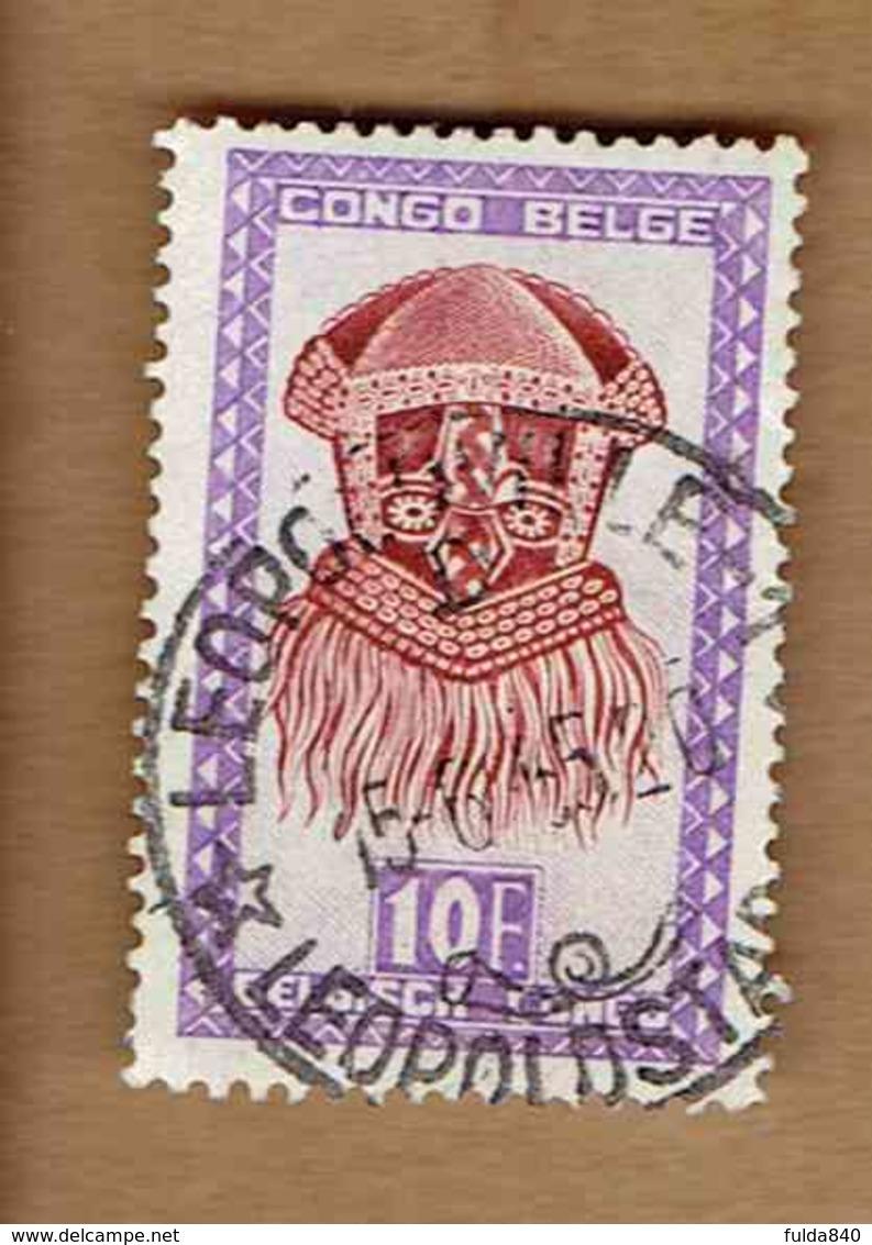 Congo Belge.(COB-OBP) 1948 - N°292 *ARTISANAT ET MASQUES*      10,00F - Oblitéré LEOPOLDVILLE - Congo Belge