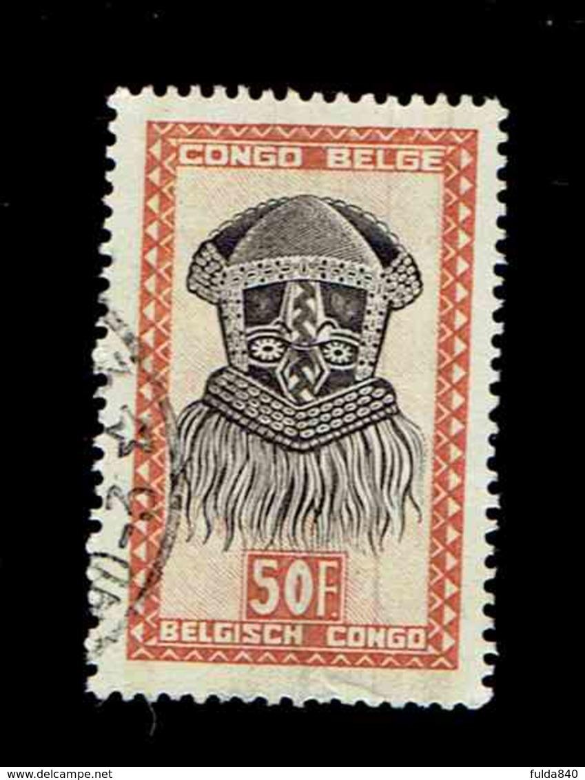 Congo Belge.(COB-OBP) 1948 - N°294 *ARTISANAT ET MASQUES*      50,00F - Oblitéré - Congo Belge