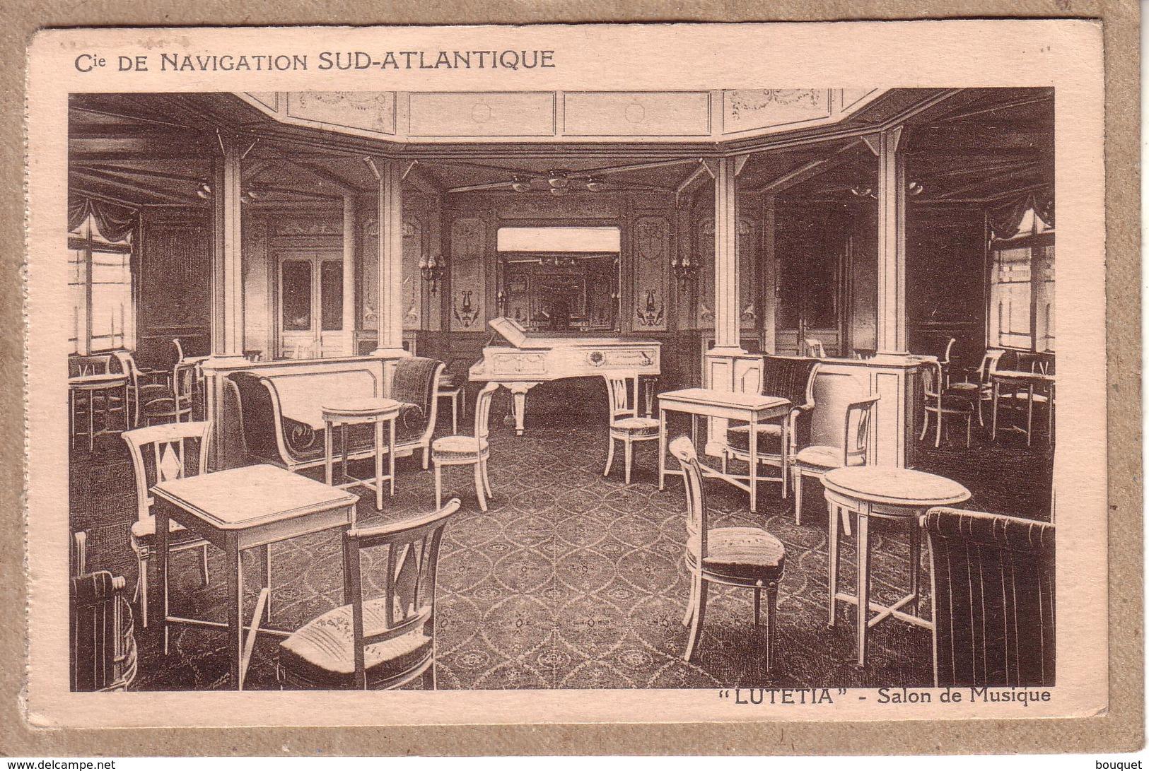 BRESIL FRANCE - CARTE DE RIO DE JANEIRO POUR PARIS , GRIFFE PAQUEBOT SUR 40 C + AMBULANT IRUN A PARIS SPECIAL - 1929 - Poste Maritime