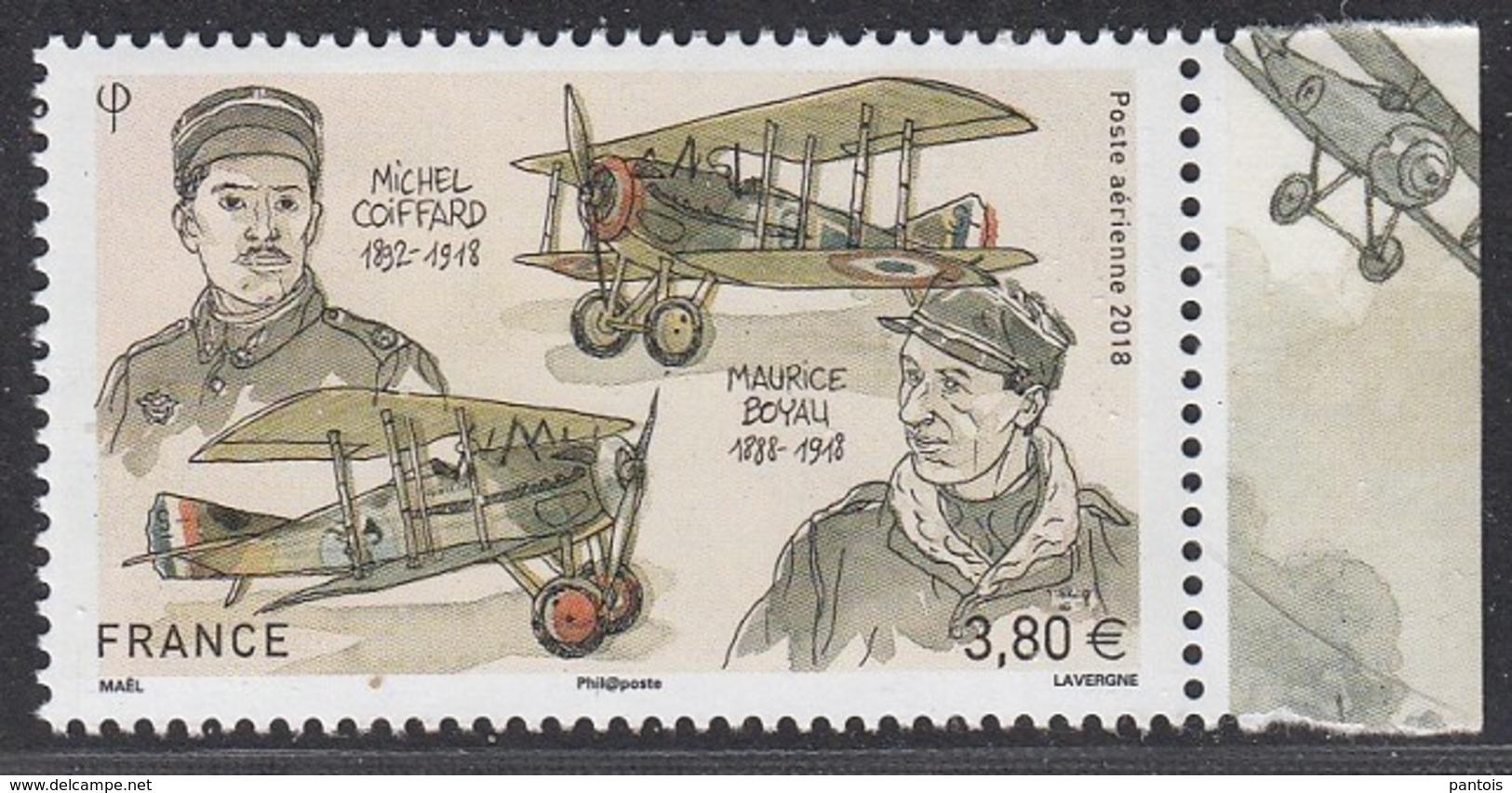2018 Michel Coiffard Et Maurice Boyau Timbre Issu Du Feuillet De 10 ** - Poste Aérienne