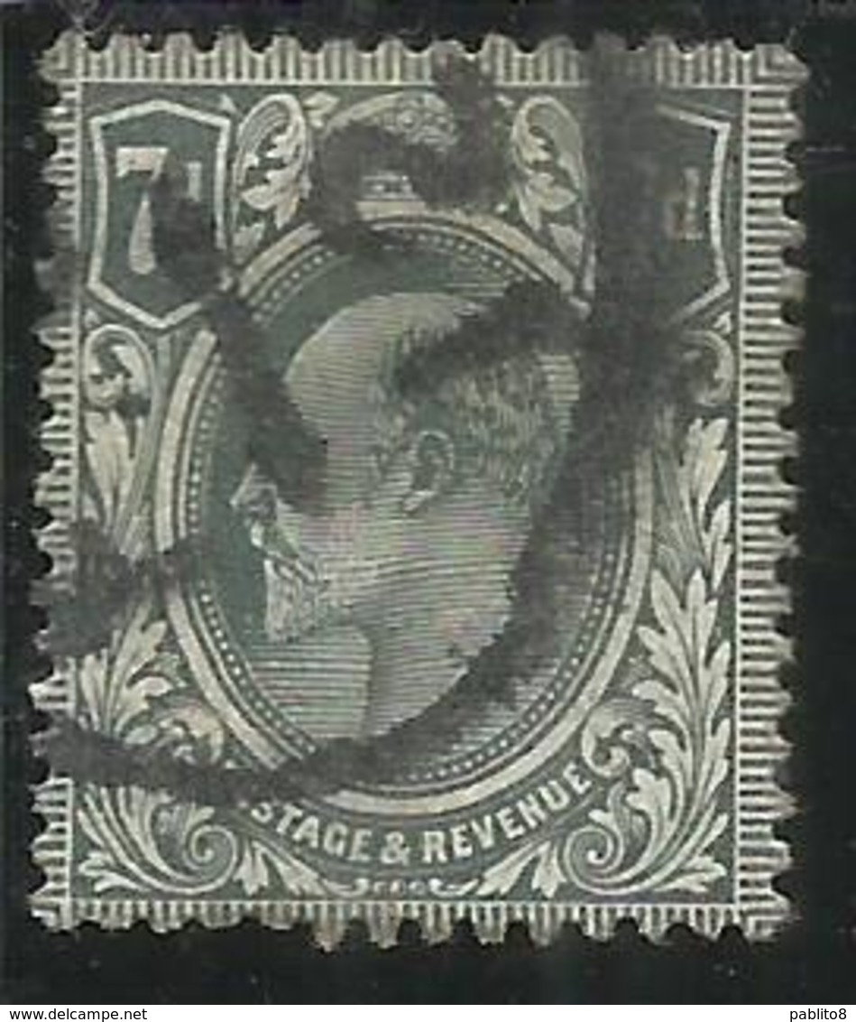 GREAT BRITAIN GRAN BRETAGNA 1909 1910 KING EDWARD VII RE EDOARDO 7p USATO USED OBLITERE' - Usati