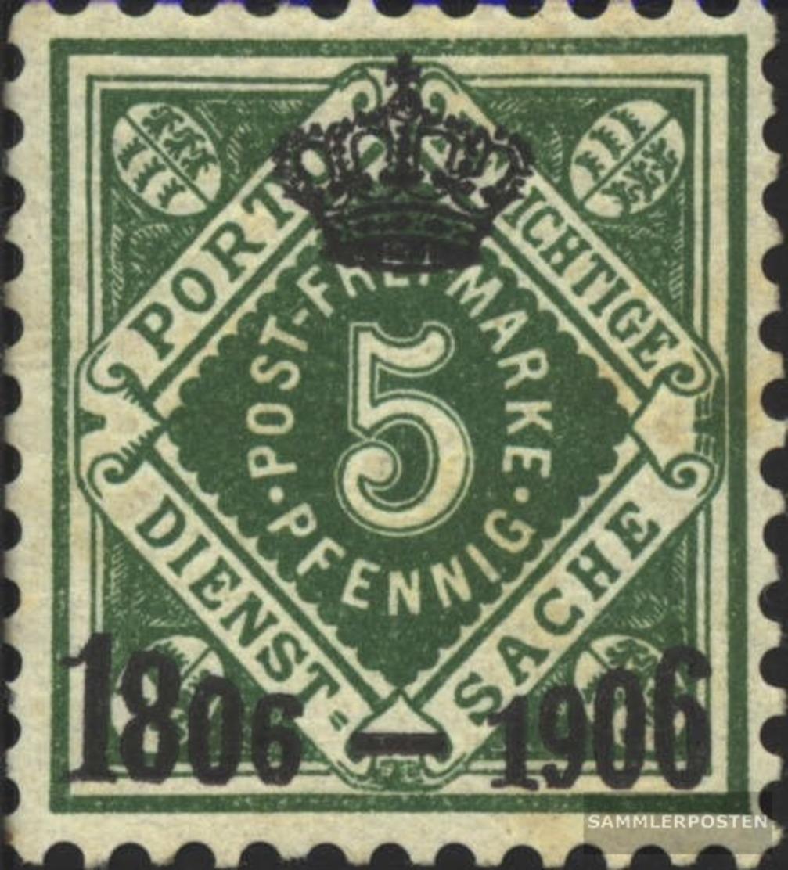Württemberg D109 Geprüft Gestempelt 1906 Ziffern In Raute - Wurtemberg