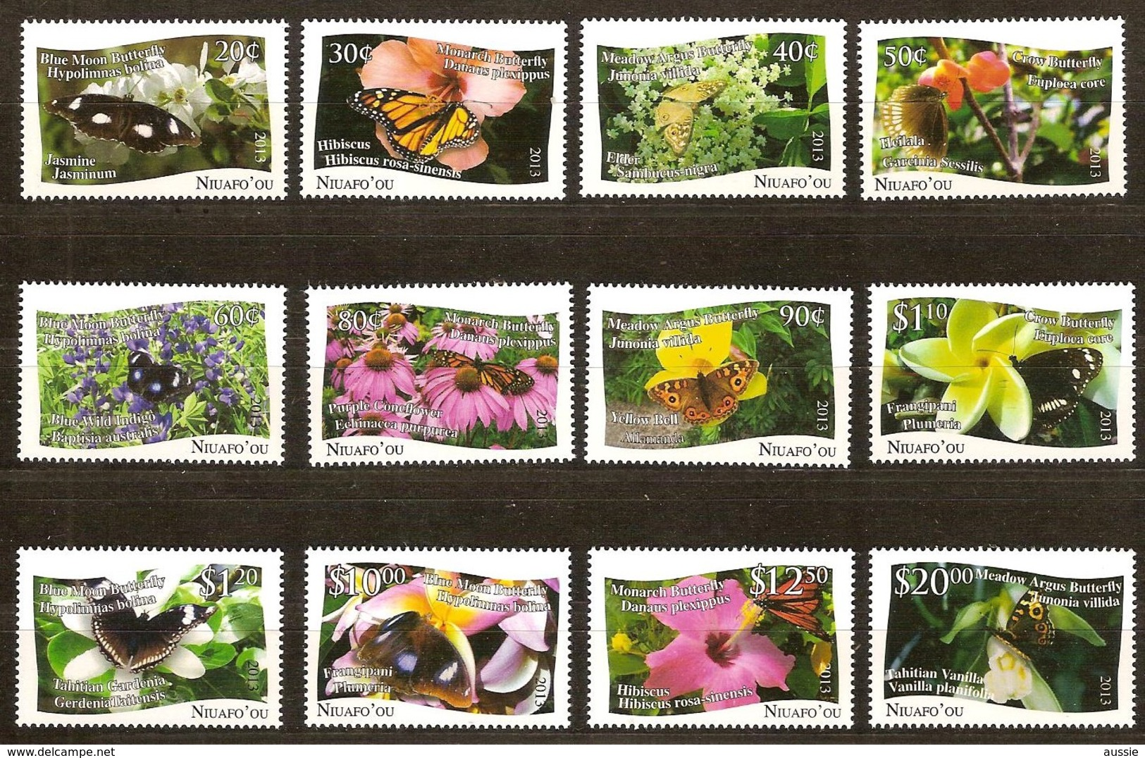 Tonga Niuafo'ou 2013 Yvertn° 368-379 *** MNH Cote 95 Euro Faune Flore Papillons Vlinders Fleurs Bloemen - Tonga (1970-...)