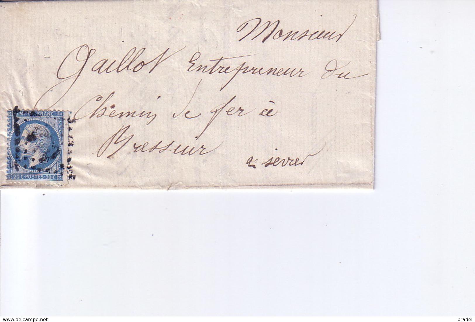 Pli De Bressuire - Marcophilie (Lettres)