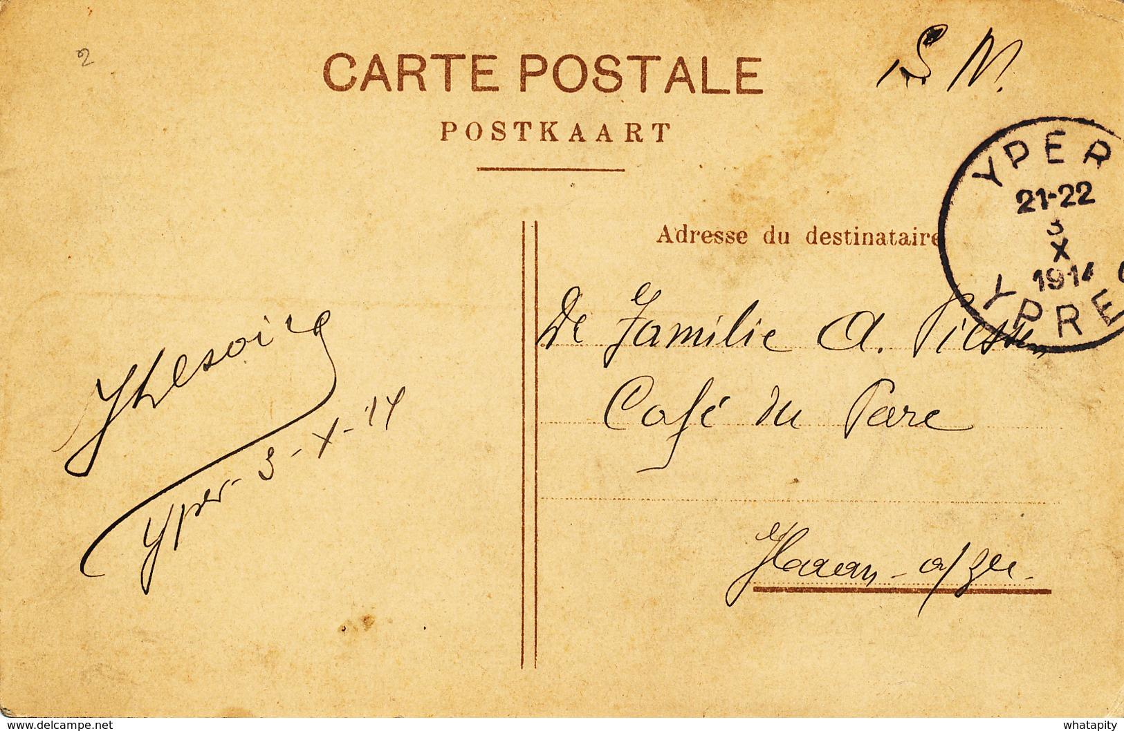 545/27 - OCTOBRE 1914 - Carte-Vue En Service Militaire YPER 3 X  1914 Vers HAAN Aan Zee - Invasion