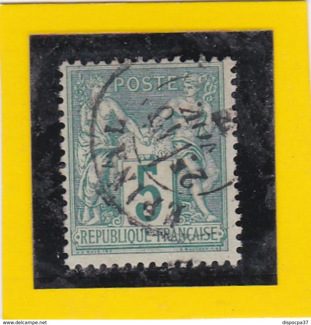 N° 75  TYPE SAGE + CACHET  A DATE EPINAL  15 NOV. 1877 - REF 24-24 - 1876-1898 Sage (Type II)