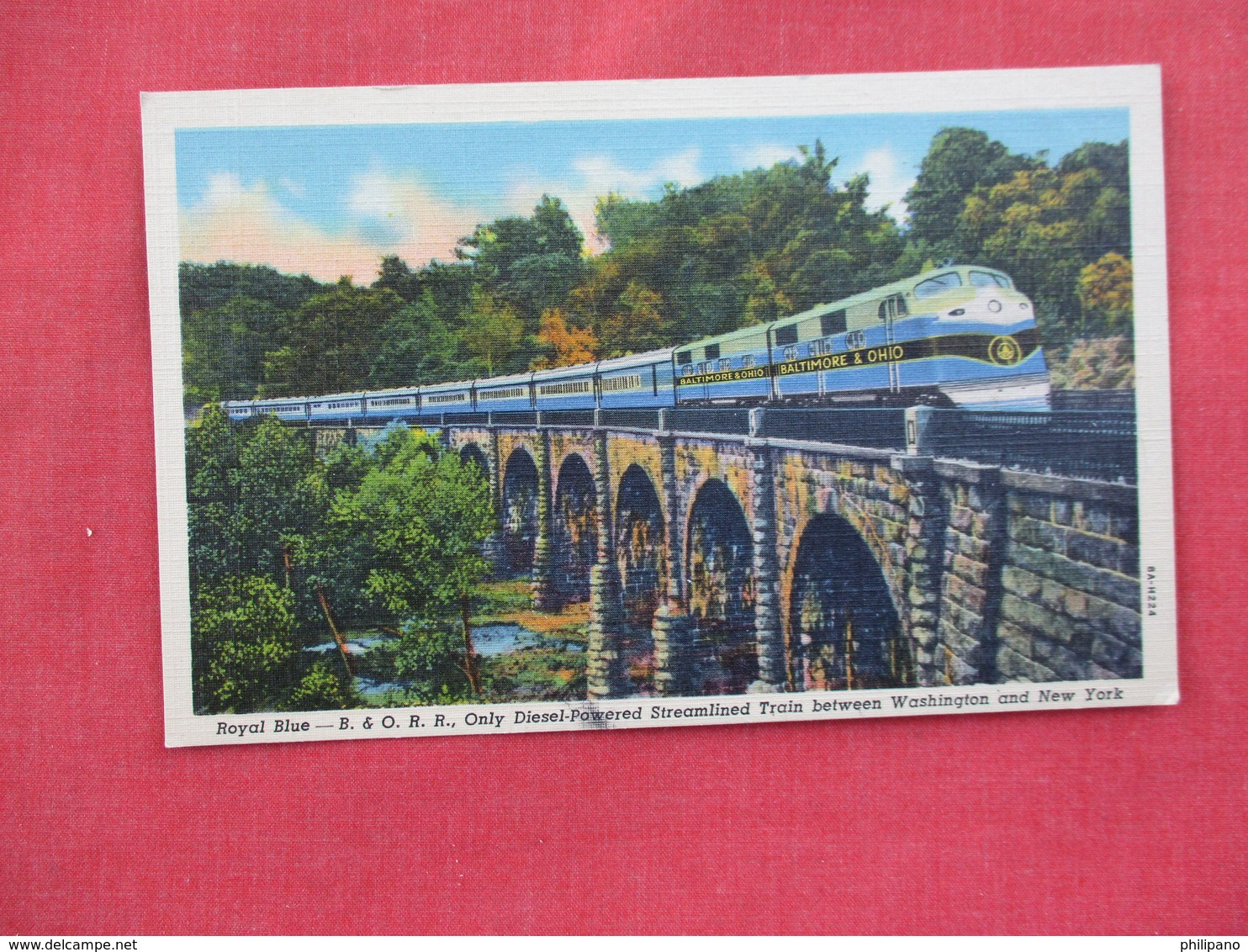 Royal Blue B & O R.R. Diesel Powered Streamline  Washington  & NY >       Ref. 3080 - Trains