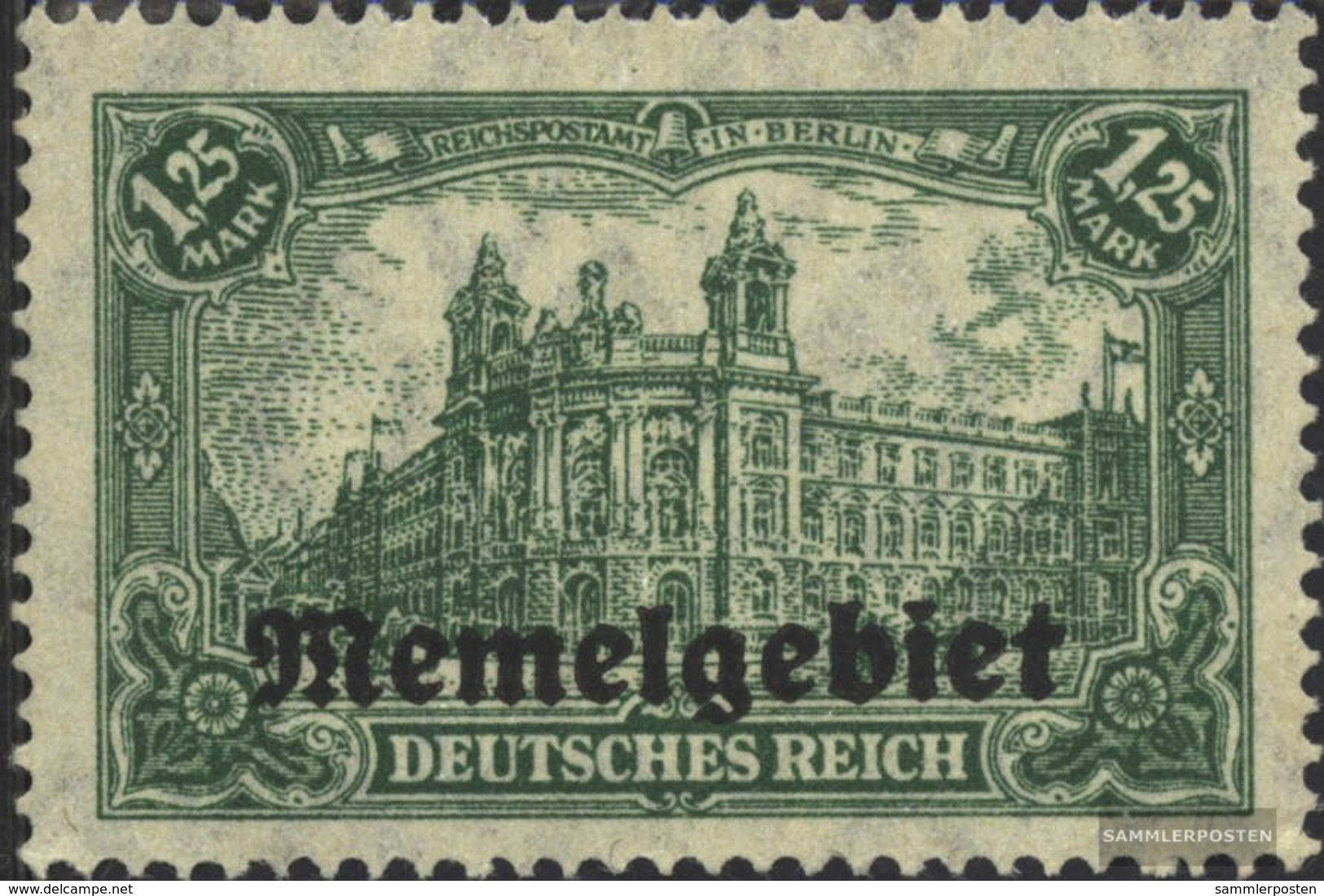 Memelgebiet 10 Con Fold 1920 Germania-Stampa - Klaïpeda