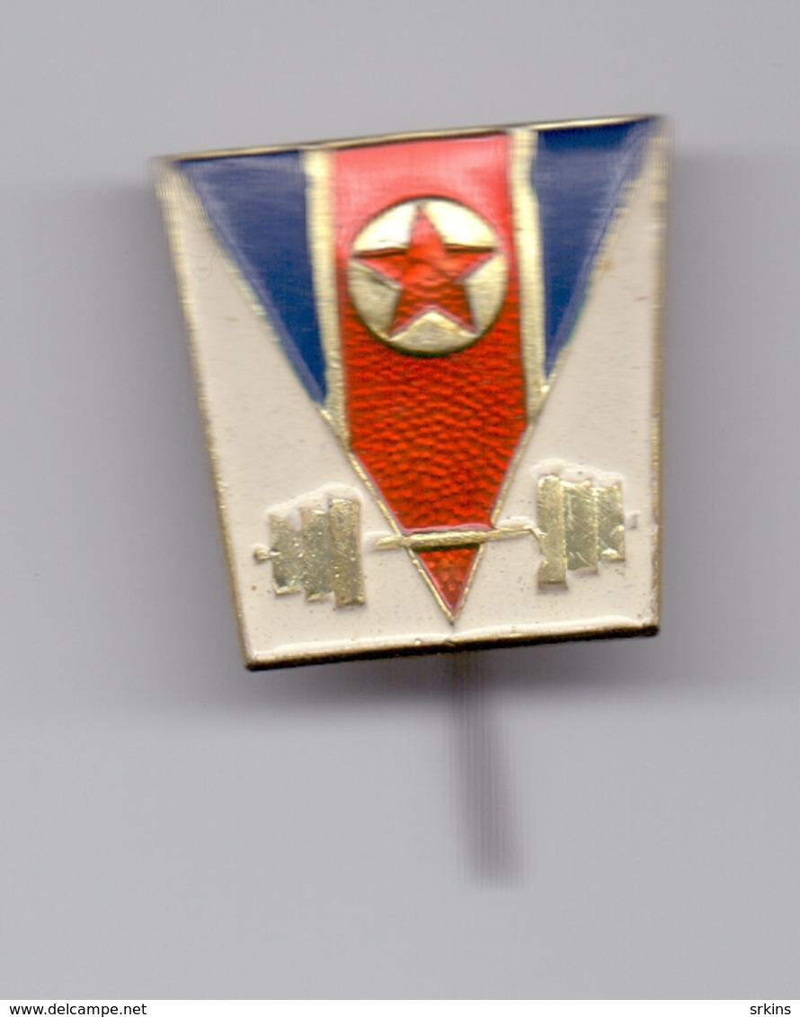 Pin North Korea Weightlifting Association Federation - Weightlifting