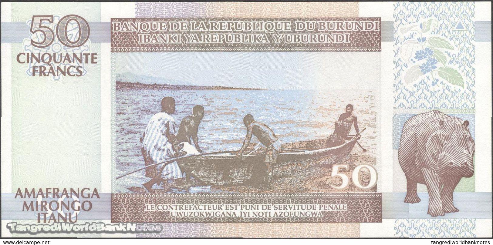 TWN - BURUNDI 36d - 50 Francs 1.7.2003 Prefix DF UNC - Burundi