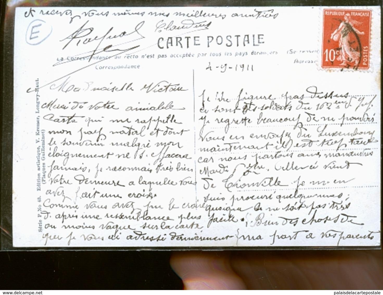 LUXEMBOURG SOLDATS ET ALLEMANDS FRONTIERE 1911          JLM - Autres