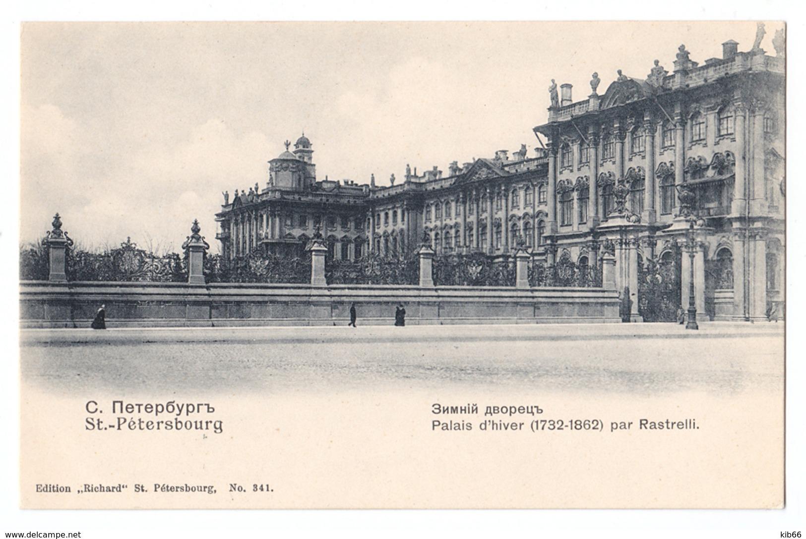 CPA St. Pétérsbourg, Palais D'hiver (1732-1862) Par Rastrelli, С.-Петербургъ - Russie