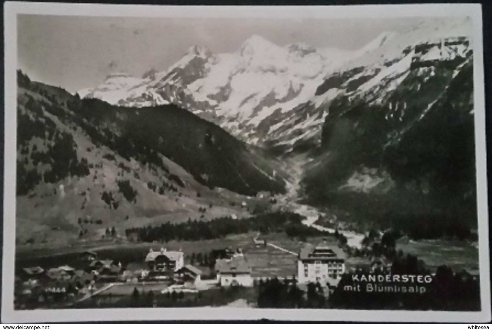 Ak Schweiz - Kandersteg Mit Blümlisalp - Gel. 1928 - BE Berne