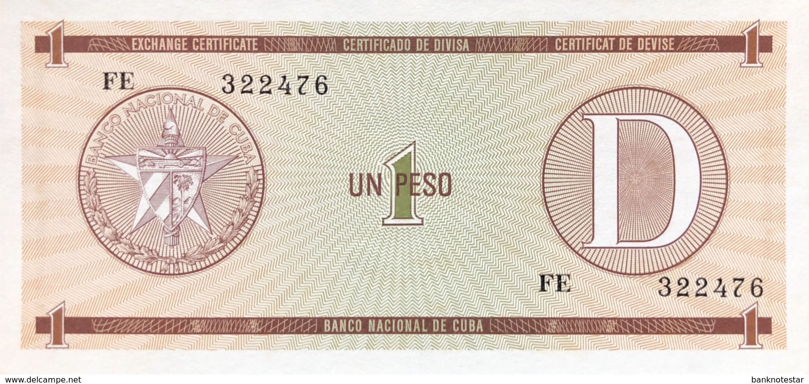 Cuba 1 Peso, P-FX32 - UNC - Cuba