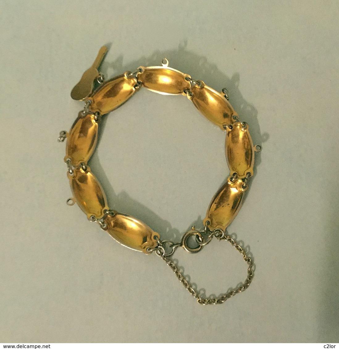 Ancien Bracelet Damasquiné (or De  TOLÈDE) Motifs Arabesques - Bracelets
