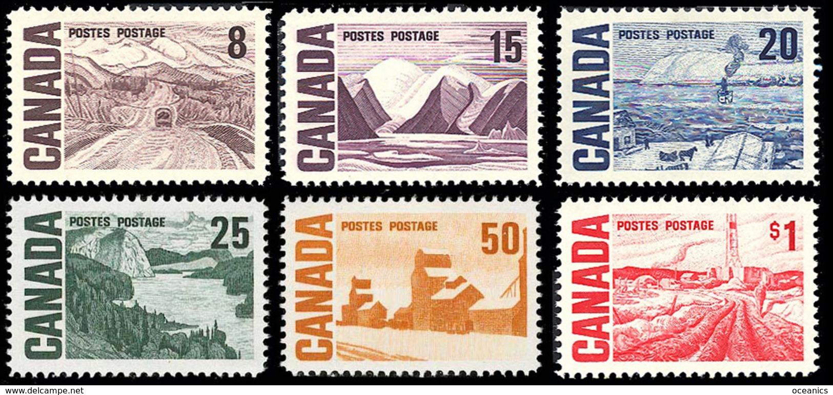 Canada (Scott No. 461-65b - 1967 Hight Definitive) [**] - 1952-.... Règne D'Elizabeth II
