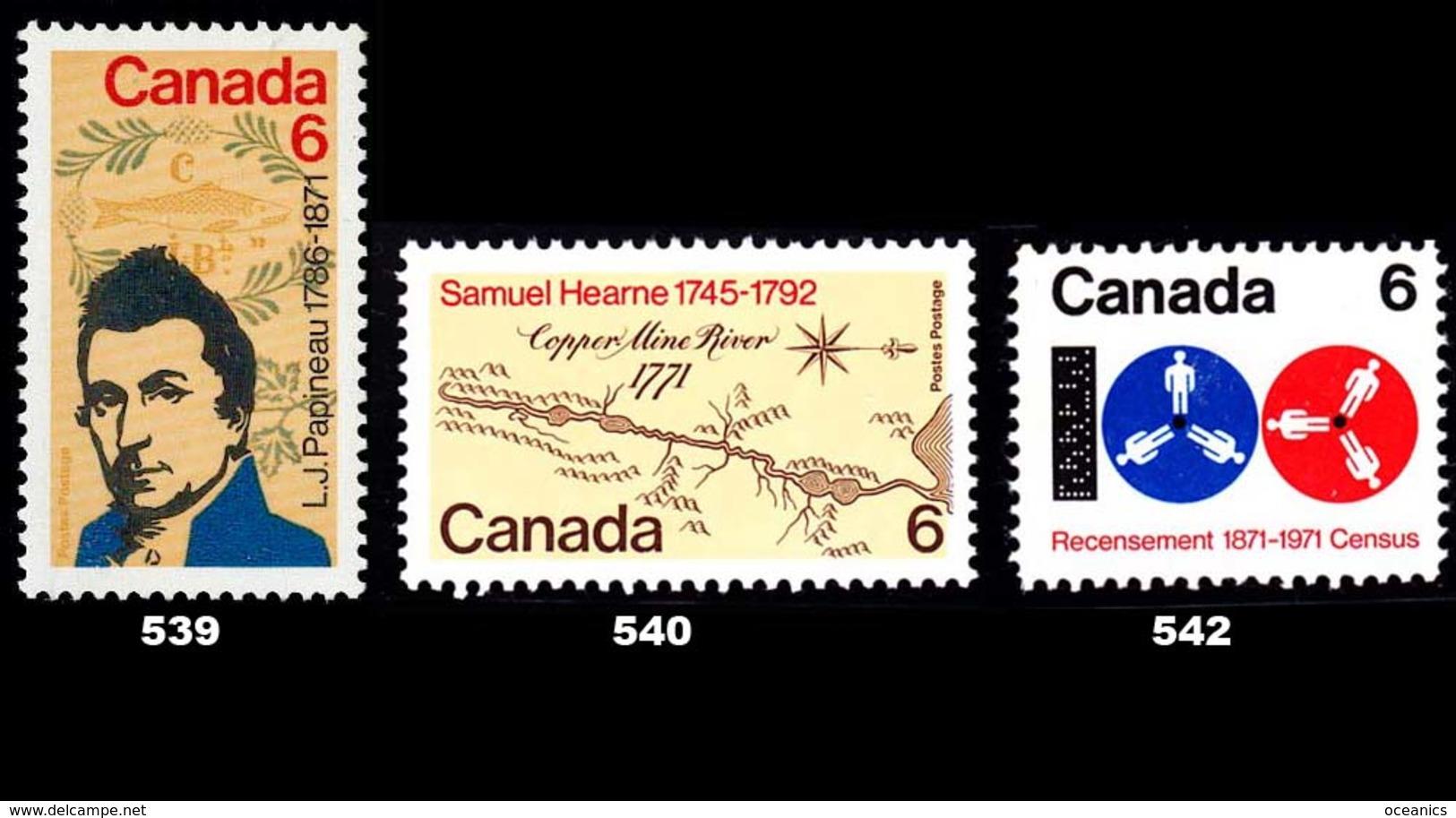 Canada (Scott No. 539-40-42 -1971 Stamps) [**] - 1952-.... Règne D'Elizabeth II
