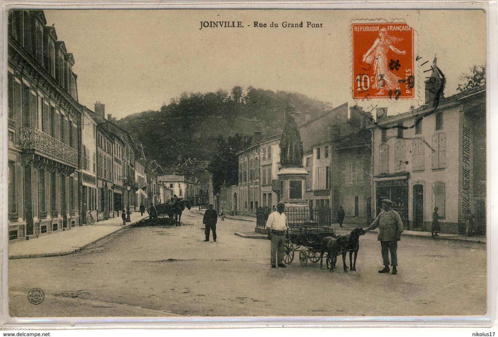 Joinville-Rue Du Grand Pont- Voiture à Chiens,- Imprimeries Réunies - Joinville