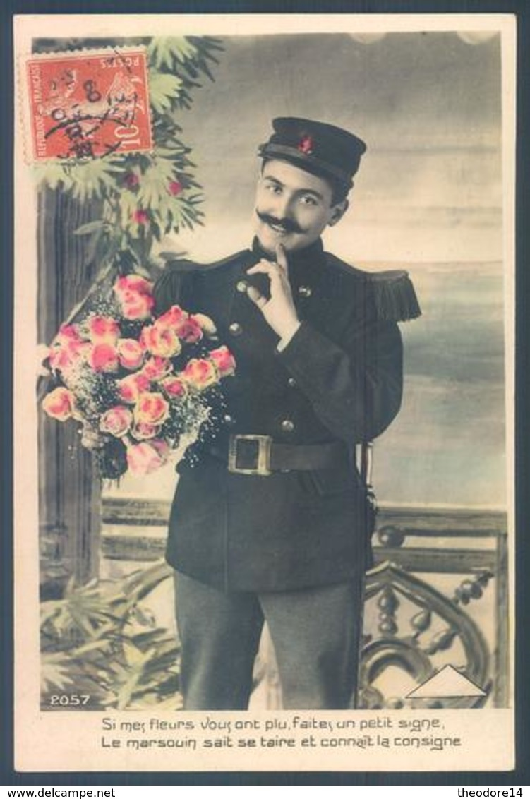 Lot De 14 Cartes Militaire Romantisme - Patriotiques