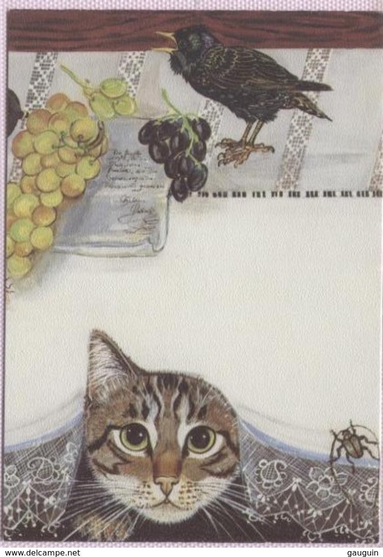 CPM - CHAT - ILLUSTRATION Eva GUTKNECHT - Edition Allemande - Katten
