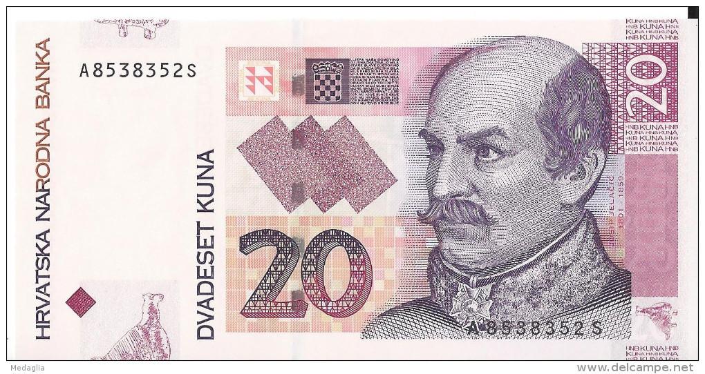 CROATIE - 20 Kuna 2012 - UNC - Croatie