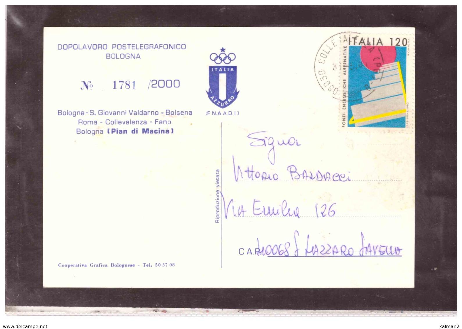 TEM4415   -   RAID - CICLOTURISTICO  BOLOGNA - ROMA - BOLOGNA   /    COLLEVALENZA 31.5.1980 - Cycling