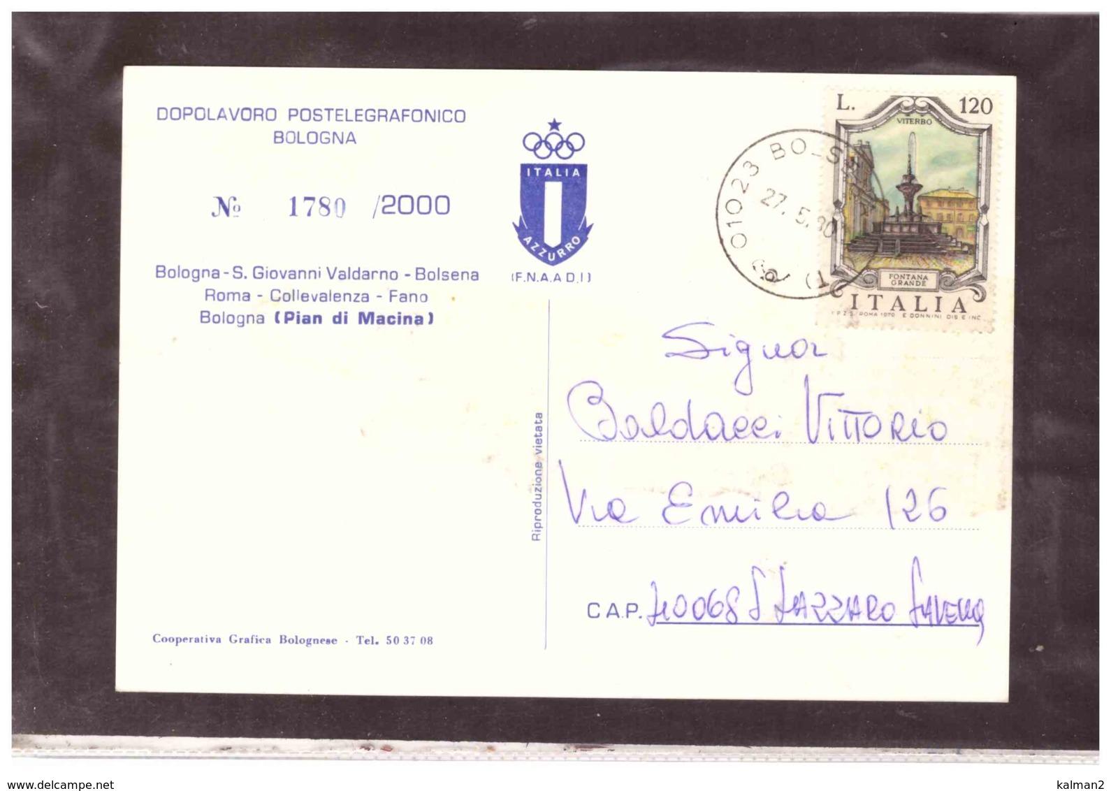 TEM4330   -   RAID - CICLOTURISTICO  BOLOGNA - ROMA - BOLOGNA   /    BOLSENA  27.5.1980 - Ciclismo
