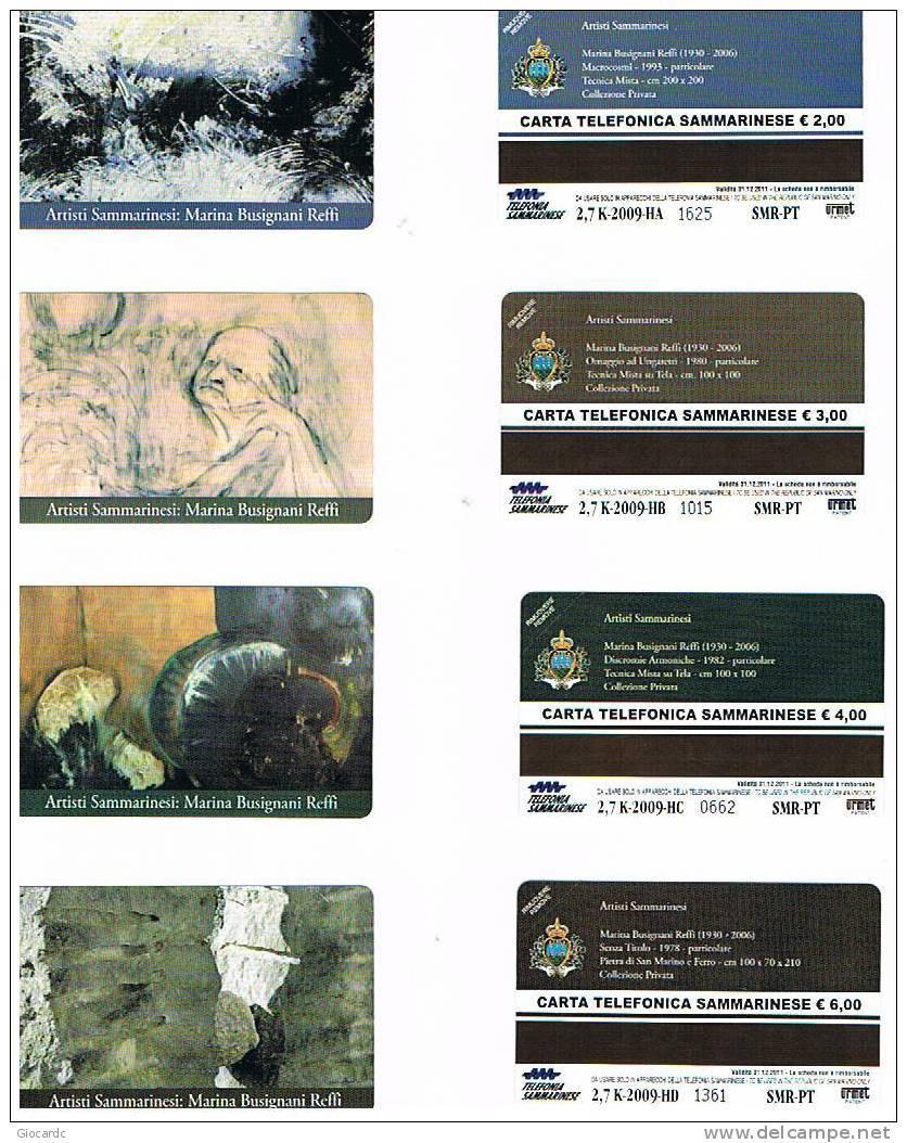 CAT. C & C 7159.7162  - SAN MARINO - 2009 ARTISTI SANMARINESI: M.BUSIGNANI REFFI  - NUOVE - San Marino