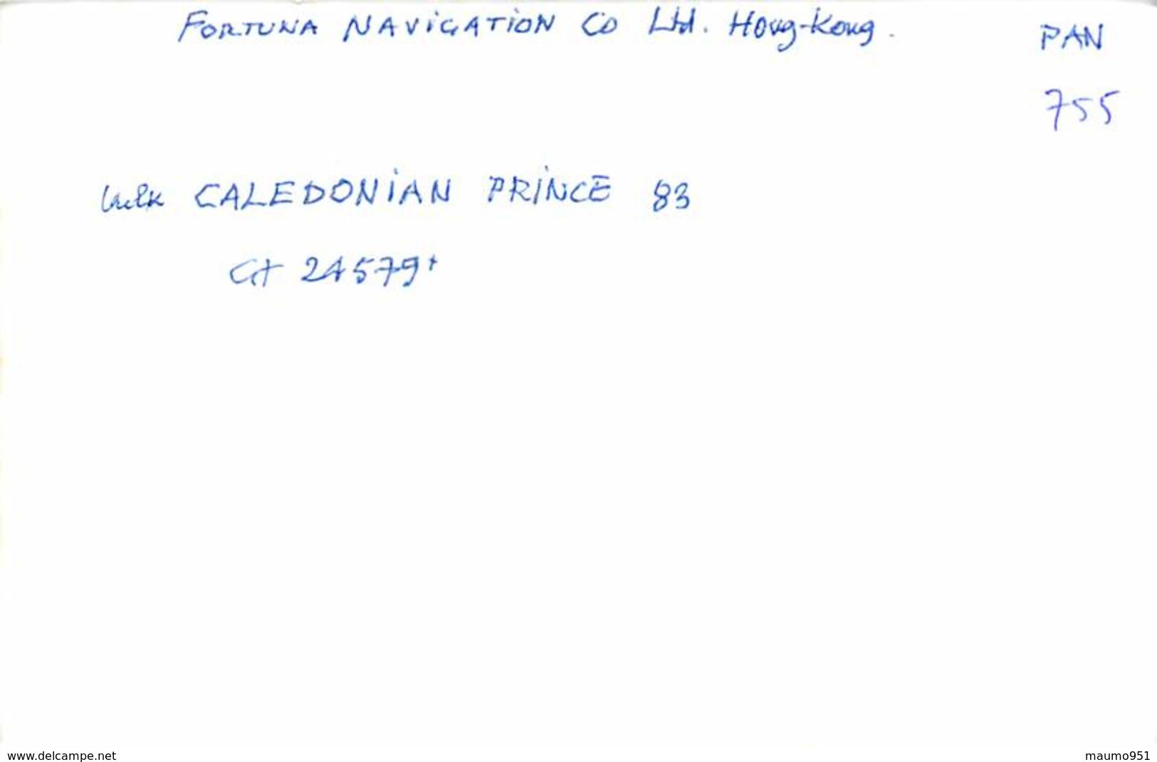 755 PHOTO BATEAU DE COMMERCE  LE CALE DONIAN PRINCE DE 1983 CATEGORIE 24579T PREFIXE  ?- FORMAT C.P.A - Bateaux